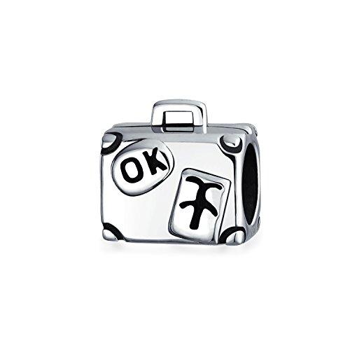 Bling Jewelry Sterling-Silber Reisende Gepäck Charm Bead (Sport-gepäck-tags)