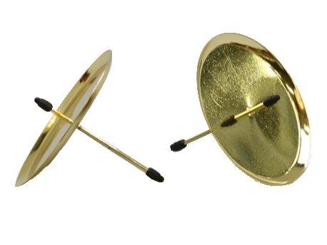 Kerzenteller mit Dorn für Stumpenkerzen Ø60mm 4 Stück Gold (Pick-60mm)