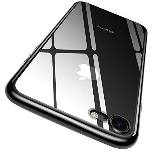 RANVOO Kompatibel mit iPhone 7 Hülle, iPhone 8 Hülle, Silikon Transparent Dünn Slim Durchsichtig Rücken & verchromt Ränder Case Schutzhülle Cover Handyhülle (11,9 cm 4,7 Zoll), Klar und schwarz -