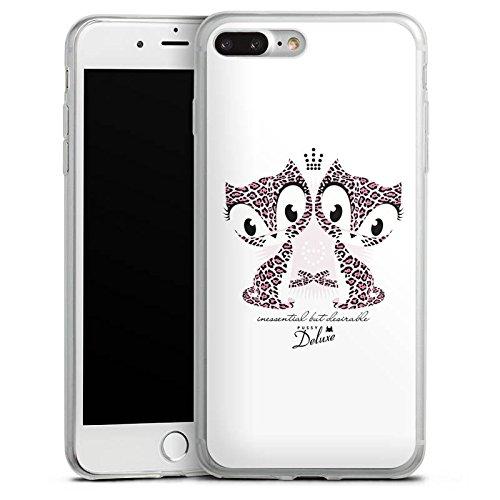 Apple iPhone X Slim Case Silikon Hülle Schutzhülle Katze Leopard Muster Silikon Slim Case transparent