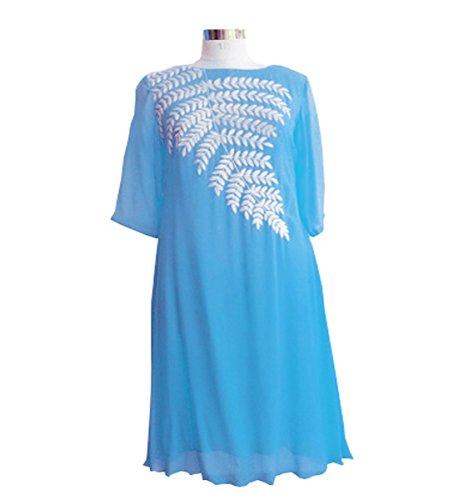 Muta Fashions Georgette Sky Blue Women Kurti