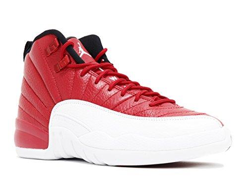Blau Schuhe Jordan (Nike Jungen Air Jordan 12 Retro BG Basketballschuhe, Rojo (Rojo (Gym Red/White-White-Black)), 35.5 EU)