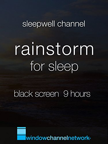 Rainstorm for Sleep, Black Screen 9 hours [OV] (Black Country Windows)
