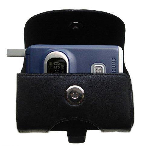 Custodia in pHorizontale schwarze Tragetasche für die Samsung SGH-X400 X426 X427 X430 X450 mit integrierter Gürtelschlaufe