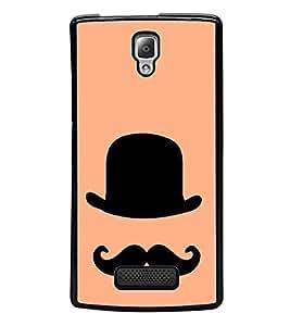 PrintVisa Designer Back Case Cover for Lenovo A2010 (Cap Moustache with Colourfull Background)
