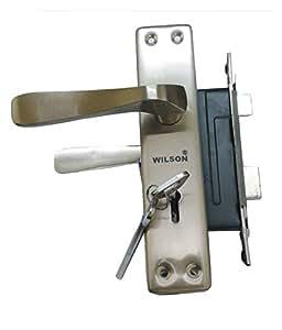 Wilson Iron Mortice Door Handle Set - Silver