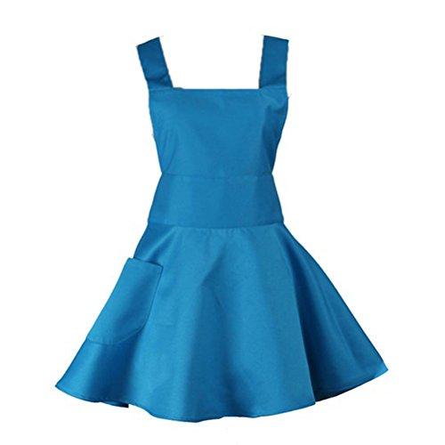 Nanxson(TM) Femme Tablier En Forme De Robe Sans Manches Long Professionnel Pour Travail CF3011 Bleu