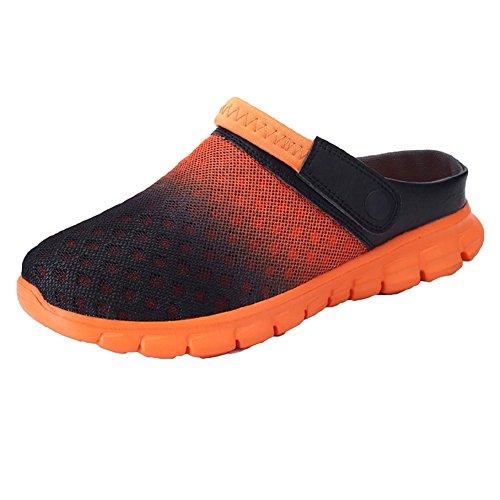 Hibote Unisex Transpirable de Malla Ligera Mula Zuecos Ocasionales Zapatos de Verano Jardín Sandalias de Playa Al Aire Libre Zapatillas Antideslizantes 5 Colores