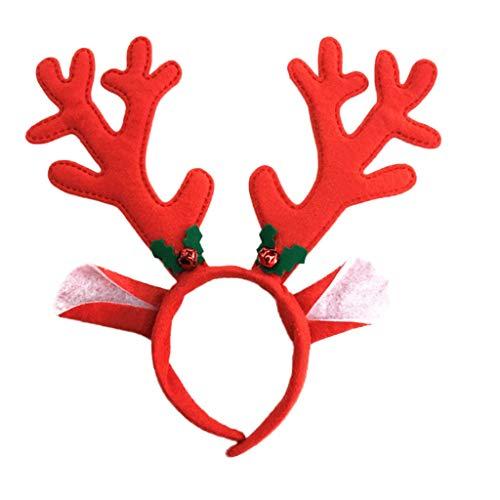UEVOS Haarschmuck Kinder Mädchen Niedlich Weihnachten Hirsch Stirnband Weihnachten Zubehör Haarband Tiara Headwear