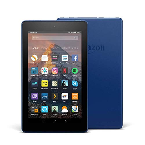 "Price comparison product image Fire 7 Tablet with Alexa, 7"" Display, 16 GB, Marine Blue — with Special Offers"