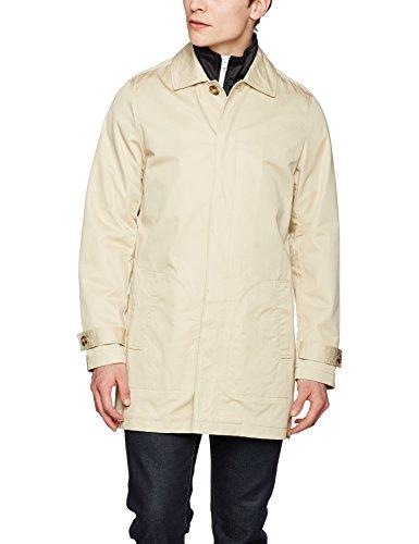 Urban Classics Gabardine Coat, Abrigo para Hombre, Elfenbein (Sand 208), L
