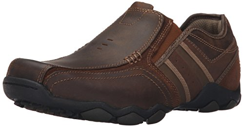 Skechers - Diameter Zinroy, mocassini  da uomo, Marrone (Brown (Marron)), 43