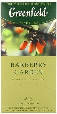 Greenfield Thé Noir, Barberry Garden, 25 Sachets de Thé dans le Paquet
