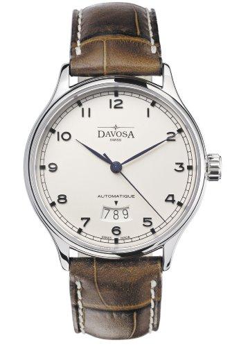 Davosa Herren-Armbanduhr Analog Edelstahl beige 16145616