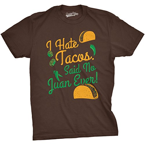 crazy-dog-tshirts-i-hate-tacos-said-no-juan-ever-t-shirt-funny-mexican-food-tee-4xl-homme