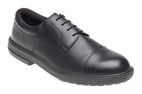 Toesavers cuoio formale scarpe di sicurezza Black