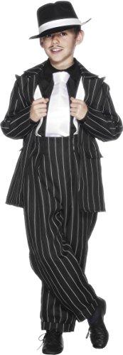 Anzug Kostüm, Jackett, Hose und Hosenträger, Größe: M, 25600 (Gangster-kostüm Für Kinder)