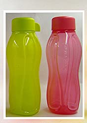 Tupperware Aquasafe Plastic Water Bottle Set, 310ml, Set of 2 (Color Vary)