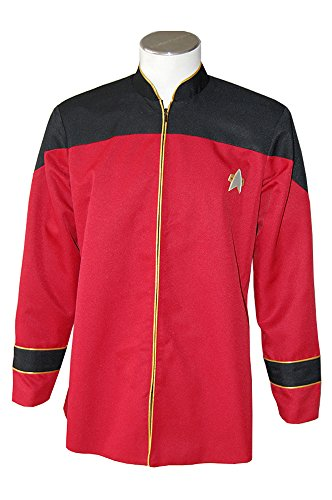 Kostüm Tng Uniform (Star Trek The next Generation TNG male Admiral's Cosplay Kostüm Uniform Herren)