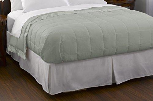 Pacific Coast Feather Company Baumwolle Bezug mit Satin Bordüre Hypoallergen Daunen Decke, clover, King Size