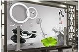 HONGYAUNZHANG Schwarz-Weiß-Geometrische Muster Benutzerdefinierte Fototapete 3D Stereoskopische Wandbild Wohnzimmer Schlafzimmer Sofa Hintergrund Wandbilder,350Cm (H) X 430Cm (W)