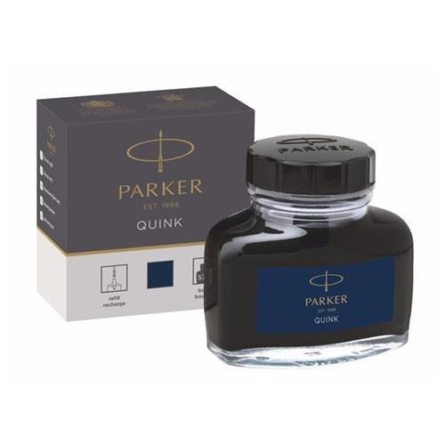 Parker Quink in Flaschen, Tinte für Füllfederhalter, 57ml, Schwarz/Blau Ref 1950378137742 (Schwarze Tinte Flasche)
