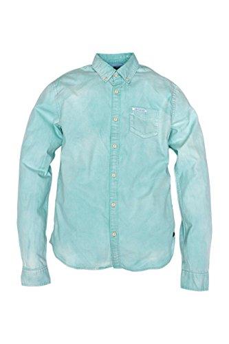 Scotch & Soda Camicia PIQUE, uomo, Colore: Verde Chiaro, Taglia: S