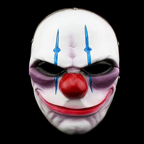 YAJAN-masks Máscara de Halloween, Accesorios de Juego para Payasos, Juegos de rol de Baile, Personalidad Fresca,Banda elástica