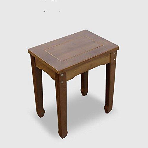 KFXL yizi Tabouret Banc en bois massif rectangulaire Table à manger Tabouret banc de loisirs 37 * 42 * 24cm