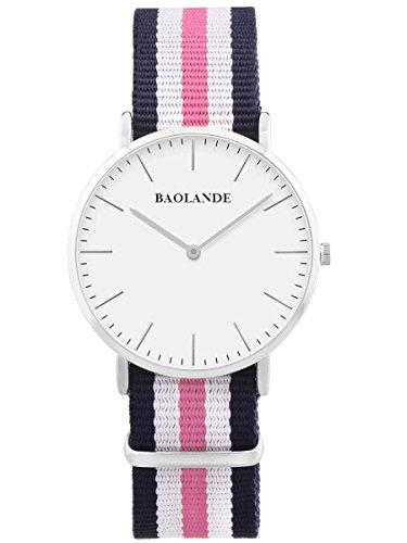 alienwork-classic-stmawes-reloj-cuarzo-elegante-cuarzo-moda-diseno-atemporal-clasico-nylon-plata-azu