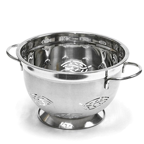 Chef Craft 21600 Stainless Steel Colander, 5-Quart, Silver by Chef Craft 5 Quart Colander