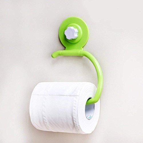 YNG Toilettenpapier Rack Papierhandtuchhalter Sucker Toilettenpapierhalter Toilettenpapier Toilettenpapier Toilettenpapierrollenhalter Toilettenpapierhalter,Grün