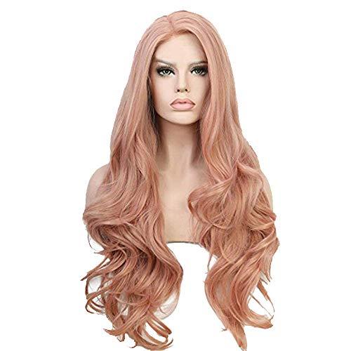 Perruques Cheveux Synthétiques Rose Longue Synthétique pour Cheveux Chaleur Naturelle Offre Spéciale Pas cher Rosa para El Pelo