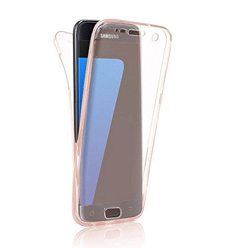 Minto Crystal TPU Full Body 360 ° Hülle iPhone 7 Plus Silikon Case Cover Etui Tasche - transparent Komplett Schutzhülle Rosegold