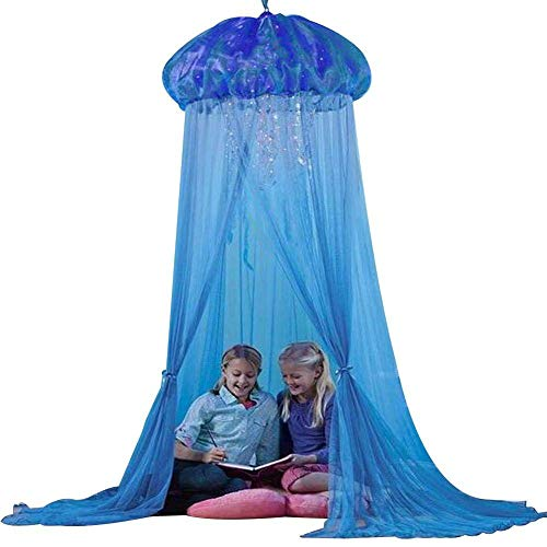 Baby Prinzessin Zimmer Bett Quallen Form Vorhang Baldachin Sommer Moskitonetz Blau ()