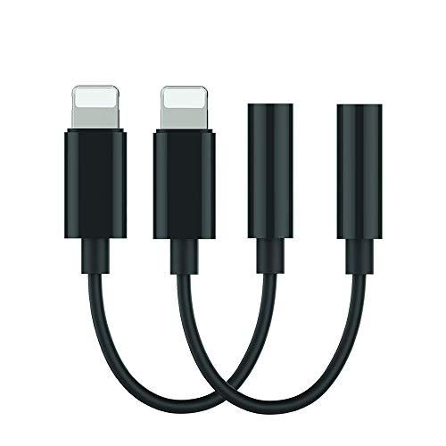 Kopfhörer-Adapter für iPhone (2Pack), Audio-Adapter mit 3,5-mmAux-Kabel