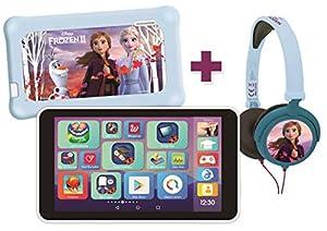 """Lexitab Master Bundle Disney Frozen II - Tablet infantil de 7"""" con aplicaciones educativas, juegos y controles parentales - Funda protectora + auriculares estéreo Frozen II incluidos - Android, WI-F"""