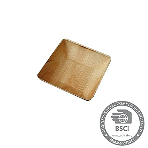 25x disposable Palmleaf bowl |750ml, 18x18cm, square |100% biodegradable, compostable