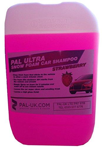 Pal Ultra Hochdruckreiniger Sicher Strawberry Schnee Schaumstoff 25L Auto Shampoo Konzentrat–Intense reinigen