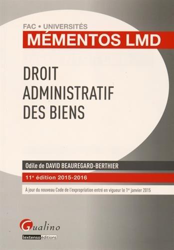 Droit administratif des biens 2015-2016