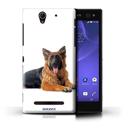 Kobalt® Imprimé Etui / Coque pour Sony Xperia C3 / Labrador conception / Série Chiens Berger allemand