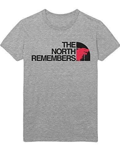 HYPSHRT Herren T-Shirt GoT The North Remembers Face C001032 Grau L