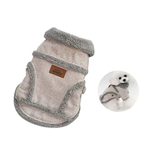 Lykke. Haustierjacke, Warmer Hundemantel, Kaschmirmantel Komfortable Haustierkleidung Winterkostüm Lamm Kaschmirmantel Hellbraun - L