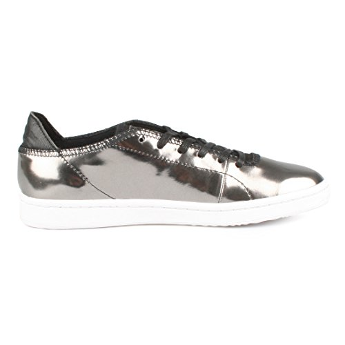 Woden Sneakers Metallico Womens Jane 047 Gunmetal