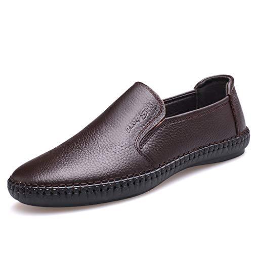 BURFLY Mode Herren Schuhe, Männer Einfach Solide Sommer England Erbsen Schuhe Casual Wild Faul Bequem Flut Schuhe -