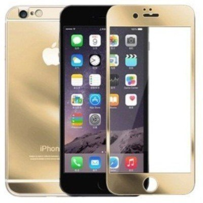 "Kapa Electroplated Mirror Front + Back Tempered Glass Screen Protector for iPhone 6 4.7"" - Gold"