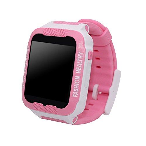 YouN C3 Kids Anti-Lost Smart Watch SOS-Anruf GPS Tracker (Weiß / Rosa) -