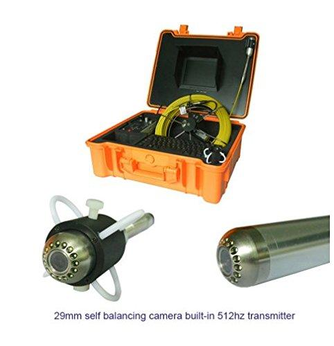 mabelstar 29mm Selbst Balancing Rohr Line Kamera Kanalisation CCTV Inspektion Ausrüstung mit 512Hz Sender 30m Zähler (Cctv-ausrüstung)