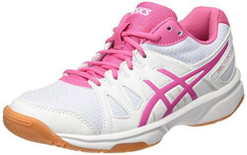 ASICS Gel-Upcourt GS, Scarpe da Badminton Bambina, Multicolore Azalea Pink/White, 35.5 EU