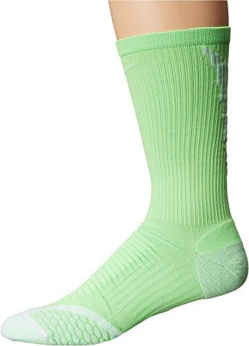 Nike Golf Socken Elite Cushion Crew Unisex, Unisex - Erwachsene, Golf Elite Cushion Crew, grün/weiß (Voltage grün/weiß) -